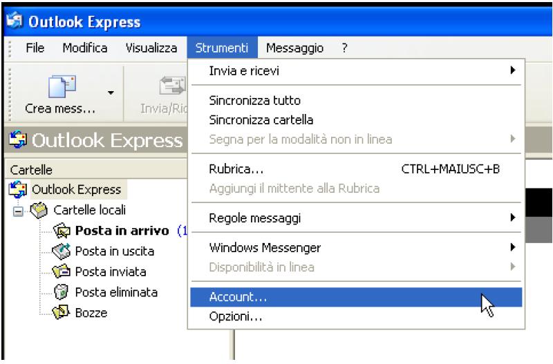 come configurare la posta elettronica pec su outlook express step 1