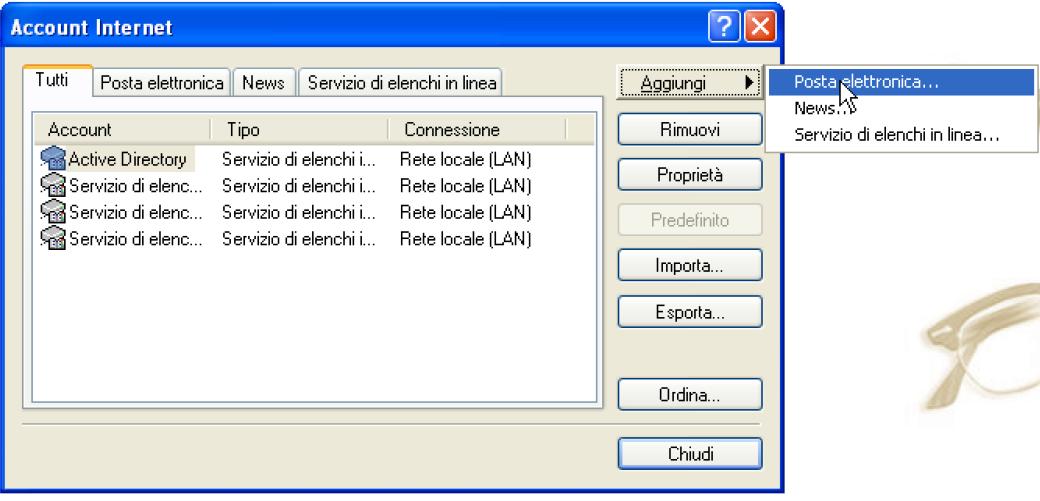 Procedura per la configurazione della posta elettronica pec su outlook express step 2