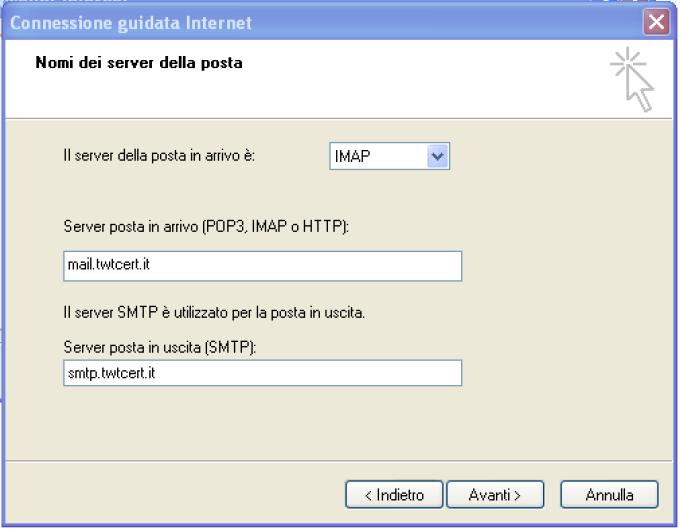 come configurare la posta elettronica pec su outlook express step 5