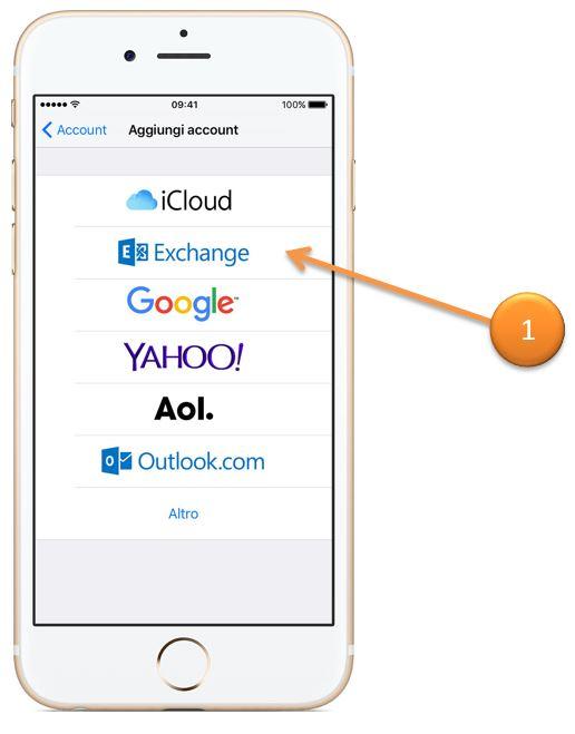 exchange su iphone ipad