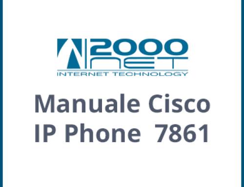 Manuale Telefono Cisco IP Phone 7861
