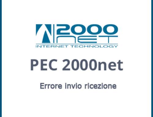Errore invio ricezione caselle PEC windows 7-8 Office 2007-2010